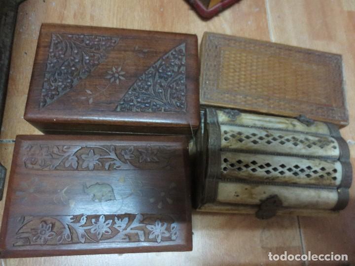 Antigüedades: LOTE CAJAS MADERA ORIENTALES Y UNA CAJA DE HUESO - Foto 2 - 122940763