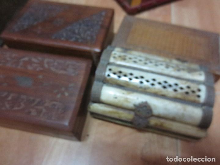 Antigüedades: LOTE CAJAS MADERA ORIENTALES Y UNA CAJA DE HUESO - Foto 3 - 122940763