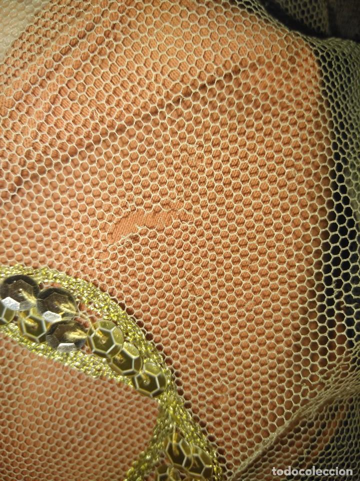 Antigüedades: Precioso conjunto de manteleta y delantal de indumentaria tradicional valenciana - Foto 33 - 127979439