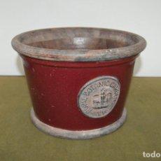 Antigüedades: PRECIOSO MACETERO, TIESTO, MACETA DE TERRACOTA DE ¨ROYAL BOTANIC GARDENS¨, 25 X 16 CM. Lote 127989495