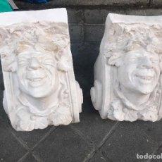 Antigüedades: 2 MENSULAS DIOS BACO IDEALES DECORACION . Lote 127997847