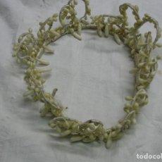 Antigüedades: PRECIOSA DIADEMA DE SEÑORA PARA BODAS. MUY ANTÍGUA.. Lote 128043423