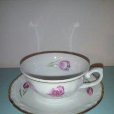 Antiquités: TAZA Y PLATO CAFE SANTA CLARA. Lote 128045486
