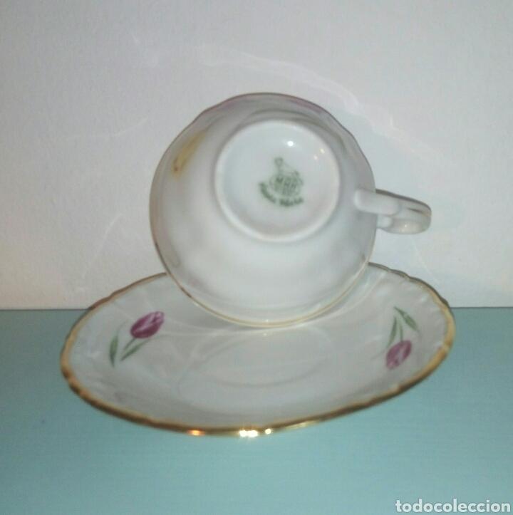 Antigüedades: Taza y plato cafe Santa Clara - Foto 2 - 128045486
