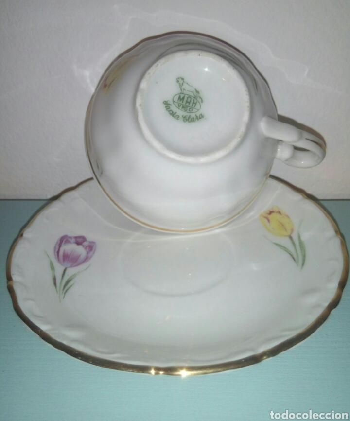 Antigüedades: Taza y plato cafe Santa Clara - Foto 2 - 128045843