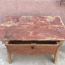 Antigüedades: ANTIGUA MESA TOCINERA ANDALUZA. Lote 128076206