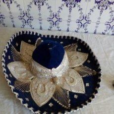 Antigüedades: ANTIGUO Y GRAN SOMBRERO MEJICANO. Lote 128082658