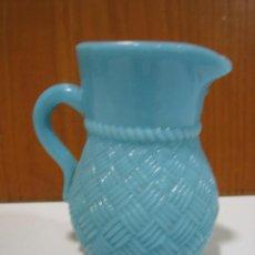 Antigüedades: ANTIGUA JARRA DE OPALINA. Lote 128095739