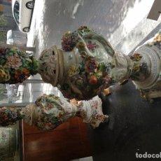 Antigüedades: PAREJA JARRONES AUSTRIACOS SIGLO XIX . Lote 128143703