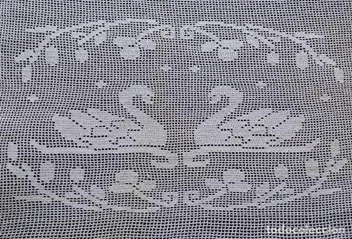 ANTIGUA CORTINA , VISILLO DE GANCHILLO (Antiquitäten - Wohnen und Dekoration - Antike Gardinen und Vorhänge)