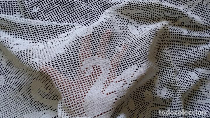 Antiquitäten: Antigua cortina , visillo de ganchillo - Foto 2 - 128146771