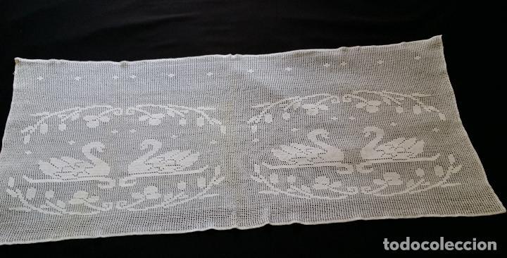 Antiquitäten: Antigua cortina , visillo de ganchillo - Foto 3 - 128146771