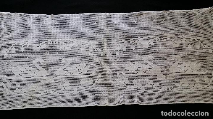 Antiquitäten: Antigua cortina , visillo de ganchillo - Foto 5 - 128146771