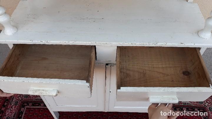Alacena antigua color blanco. mueble de cocina - Verkauft durch ...