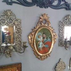 Antigüedades: ANTIGUA PAREJA DE CANDELABROS DE BRONCE, NAPOLEÓN III, IMPERIO. SIGLO XIX.ÚNICOS.. Lote 128186831