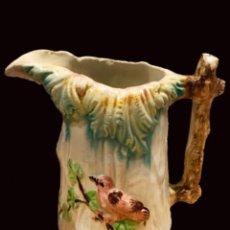 Antigüedades: ANTIGUA JARRA DE MANISES, FLORES Y PÁJAROS.. Lote 128206499