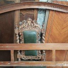 Antigüedades: ESPEJO EN MADERA DE NOGAL SATÉN CON MARQUETERÍA, PARA RESTAURAR.. Lote 128233587