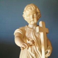 Antigüedades: PRECIOSO NIÑO.PORCELANA ANTIGUA SIGLO XIX DE BISCUIT. Lote 128294559
