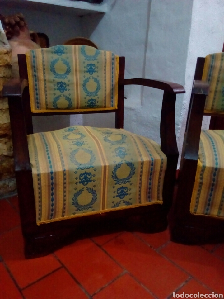 Antigüedades: Pareja de sillones art deco - Foto 2 - 128295012