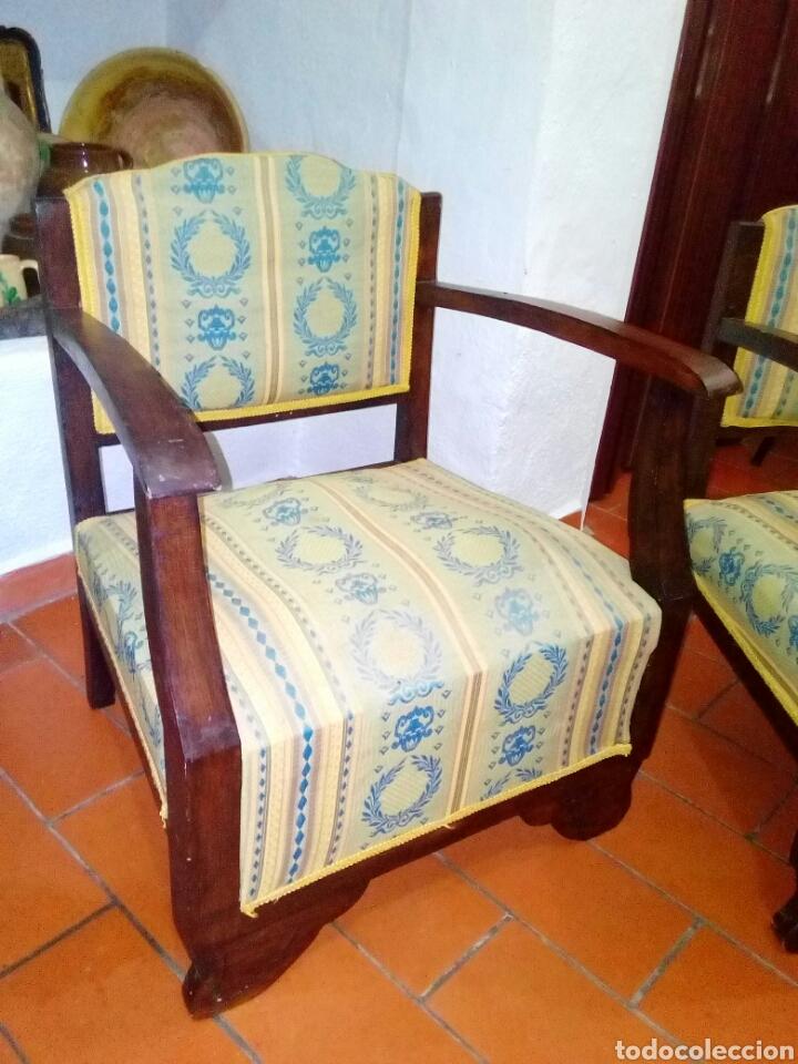 Antigüedades: Pareja de sillones art deco - Foto 3 - 128295012