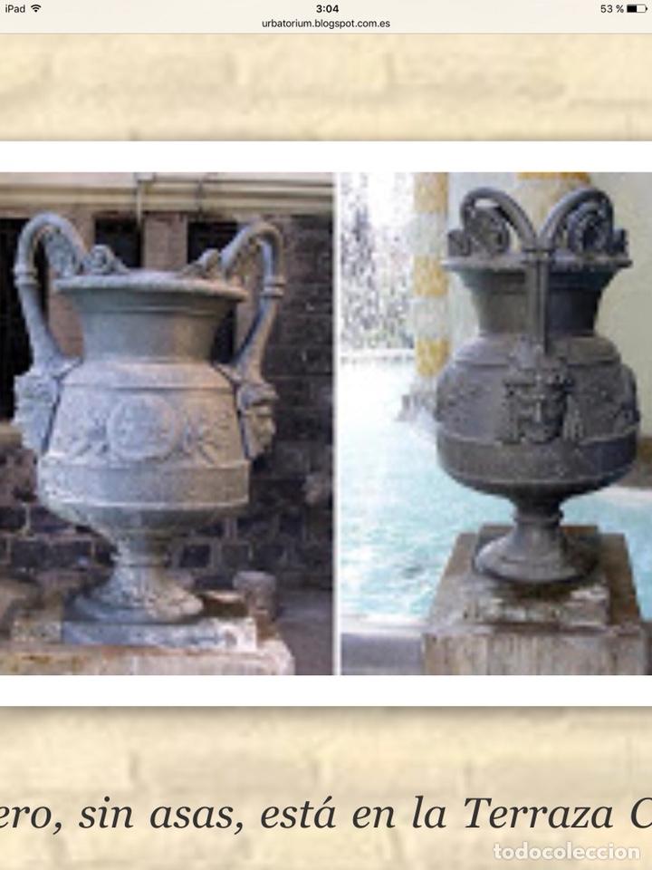 Antigüedades: Antiguo Jarrón de hierro colado - Foto 9 - 96038512