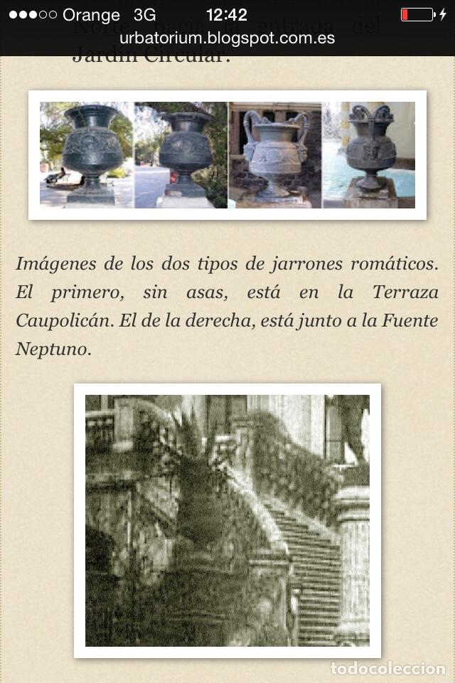 Antigüedades: Antiguo Jarrón de hierro colado - Foto 10 - 96038512
