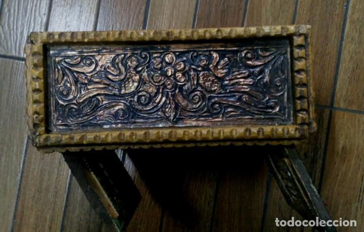 Antigüedades: BARGUEÑO MADERA CON EL ARCANGEL SAN MIGUEL - Foto 4 - 128298831