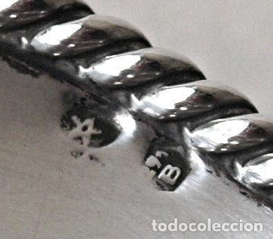 Antigüedades: BANDEJA O PLATO DE PLATA DE LEY CONTRASTADA.88 GRAMOS. 14 CM DIAMETRO. VER FOTOS Y DESCRIPCION - Foto 17 - 128313451