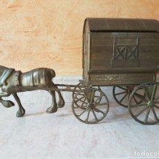 Antigüedades: EXCELENTE CARRUAJE ANTIGUO DE BRONCE.. Lote 128332375