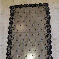 Antigüedades: ANTIGUA MANTILLA DE ENCAJE . Lote 128333003