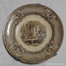 Antigüedades: ANTIGUO PLATO DE CERÁMICA INGLESA PRIMAVESI AND SON CARDIFF AND SWANSEA. Lote 128334831