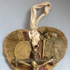 Antigüedades: ANTIGUO ESCAPULARIO RELIGIOSO - SIGLO XIX. Lote 129029590