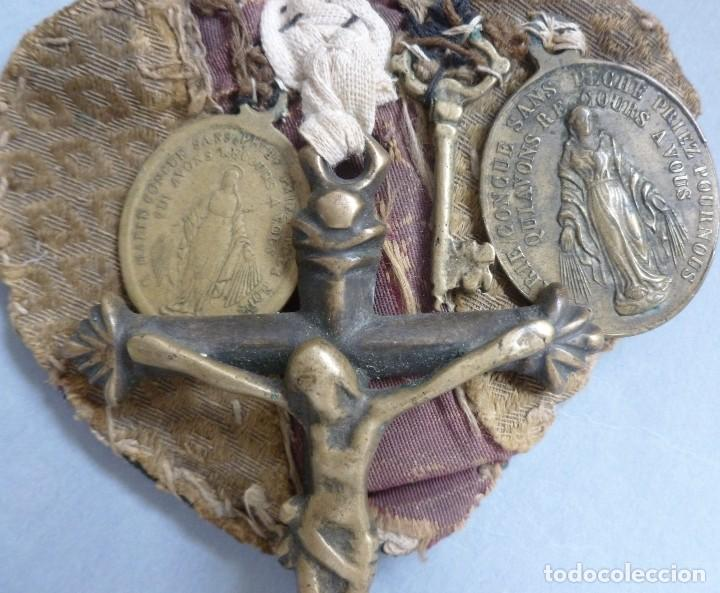 Antiquitäten: ANTIGUO ESCAPULARIO RELIGIOSO - SIGLO XIX - Foto 5 - 129029590