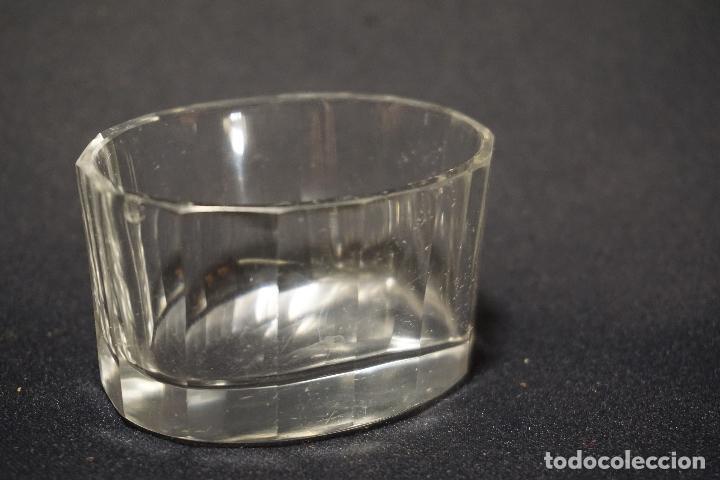 Antigüedades: Salero, especiero. Cristal tallado. Inglaterra. Siglo XIX. - Foto 7 - 128364603