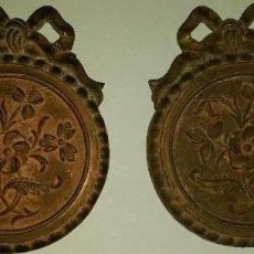 Antigüedades: ANTIGUOS APLIQUES DE BRONCE PARA DECORAR MUEBLES ,RELOJES ,ETC. Lote 128323539