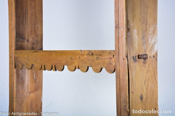 Antigüedades: Estantería antigua de madera - estilo rústico - Foto 2 - 128378123
