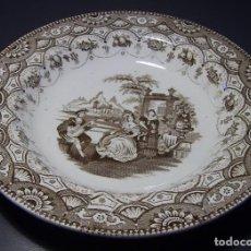 Antigüedades: PLATO PORCELANA DE LA CARTUJA (PIKMAN) XIX . Lote 128378183