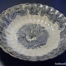 Antigüedades: GRAN Y ROTUNDA FUENTE PORCELANA DE CARTAGENA (LA AMISTAD) XIX . Lote 128378475