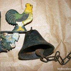 Antigüedades: ANTIGUO LLAMADOR DE CAMPANA SOPORTE DE HIERRO. Lote 128378623