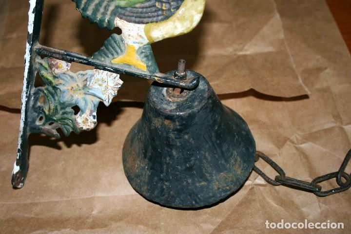 Antigüedades: Antiguo llamador de campana soporte de hierro - Foto 6 - 128378623
