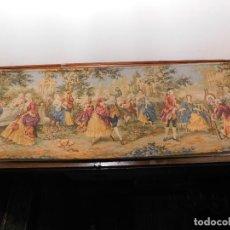 Antigüedades: AMPLIO TAPIZ GOBELINO FRANCES. Lote 128379643