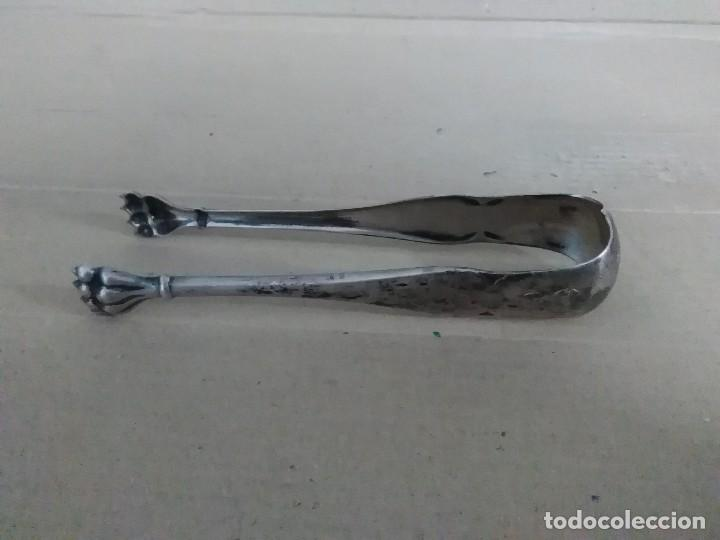 Antigüedades: Pinzas de hielo plata 925 12 ctms - Foto 3 - 128386387