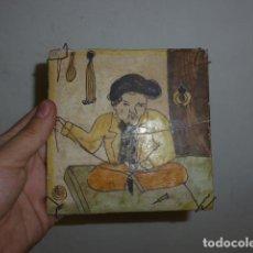 Antigüedades: ANTIGUO AZULEJO RAJOLA DE ARTS I OFICIS CATALAN O VALENCIANO ?. Lote 128387611
