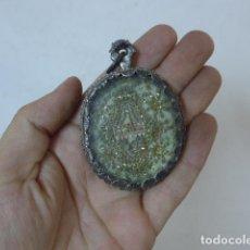 Antigüedades: ANTIGUO RELICARIO DE PLATA DE SIGLO XVII DE S. LUCIO M. RELIGIOSO. ORIGINAL. . Lote 128387991