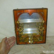 Antigüedades: ANTIGUA PEQUEÑA VITRINA MODERNISTA, MUY BONITA, DE PARED.. Lote 128392343