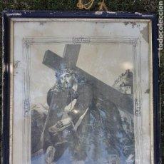Antigüedades: ANTIGUA LAMINA SANTISIMO CRISTO DEL PAÑO GRANADA 1893. Lote 93749504