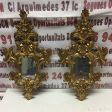 Antigüedades: LOTE DOS ESPEJOS PEQUEÑOS CORNUCOPIA - AÑOS 40. Lote 135748713