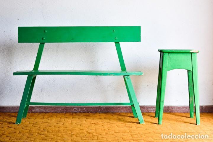 Divertido set banco y taburete/ mesa de jardín - Verkauft durch ...