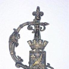Antigüedades: PAREJA DE ABRECARTAS. PLATA Y METAL CHAPADO EN PLATA. NÁCAR. EUROPA. SIGLO XX. Lote 128433987