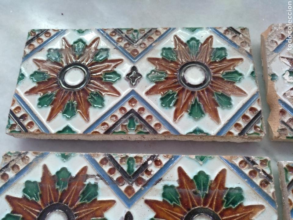 AZULEJOS A CUERDA SECA DE MENSAQUE, SEVILLA (Antigüedades - Porcelanas y Cerámicas - Triana)